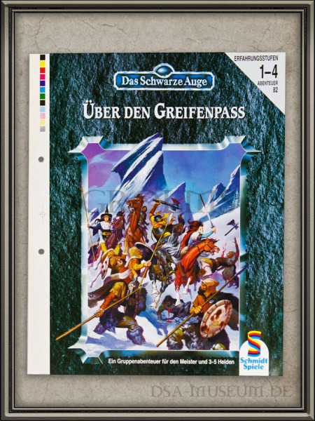 DSA_Schwarze_Auge_Museum_Druckfahne_Korrekturabzug_Über_den_Greifenpass_Schmidt_Vorab-Cover