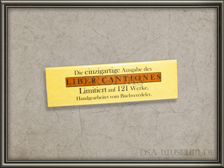DSA_Schwarze_Auge_Museum_Limitiert_Liber_Cantiones_Crafted_Collectibles_Marketing