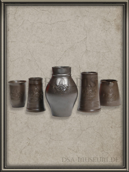 DSA_Schwarze_Auge_Museum_Merchandise_Akru_Becher_Krug_Ton_Kaiserwappen_Mittelreich