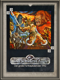 DSA_Schwarze_Auge_Museum_Merchandise_Selten_Kalender_1992