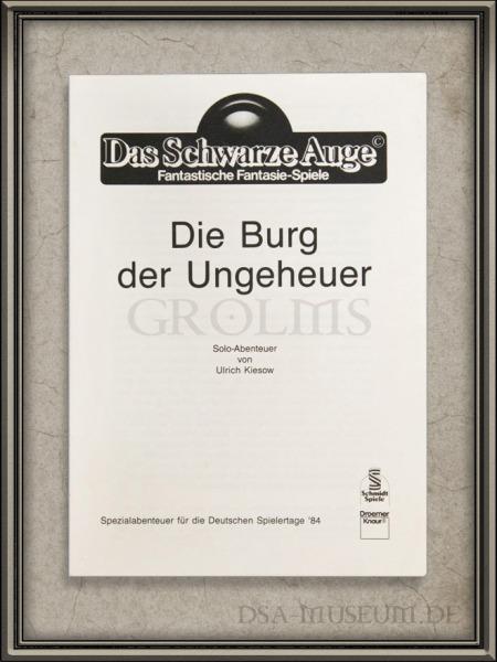 DSA_Schwarze_Auge_Museum_Selten_Burg_der_Ungeheuer_Solo