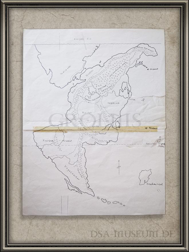 Dsa Karte.Myranor Guldenland Karte Fruher Entwurf Das Dsa Museum