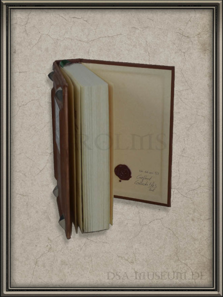 "Liber Cantiones: Crafted Collectibles-Edition ""Die Edle"" – Siegel im hinteren Buchdeckel"