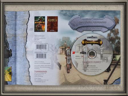 Drakensang Presskit Seite mit CD