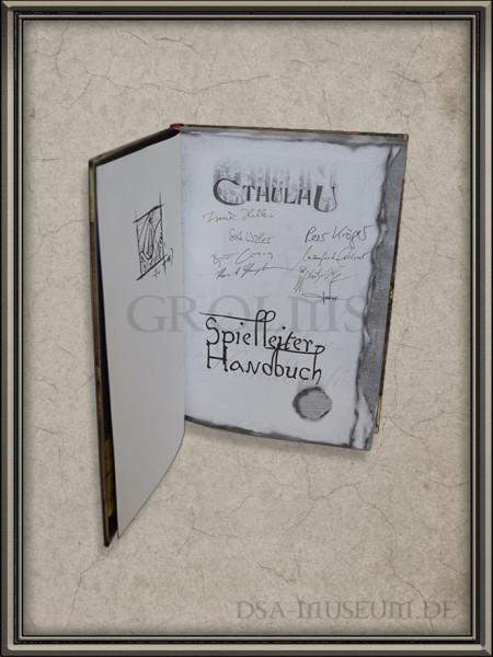 Call of Cthulhu | Spielleiter-Handbuch Pegasus Spiele Verlagsausgabe Signaturen