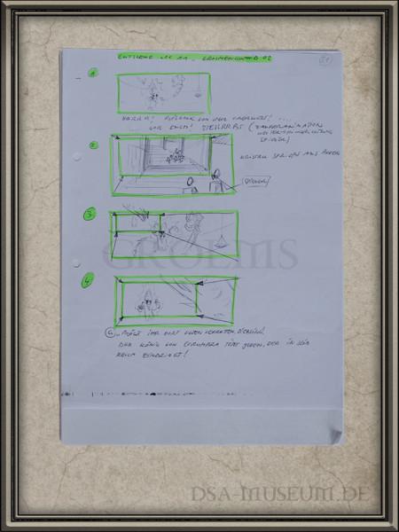 Drakensang Storyboards Beispielseite Grolmenkönig (1)