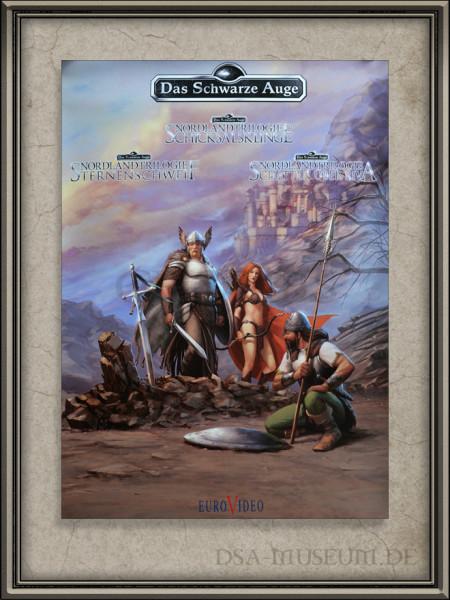 Werbeposter zur DSA-Computerspielereihe Nordlandtrilogie