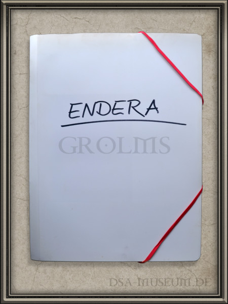"""Arbeitsmappe mit dem Arbeitstitel """"Endera"""" (später in Myranor benannt)"""