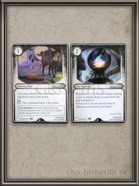 Aventuria frühe Promo Karten Alluring Bait und The Dark Eye