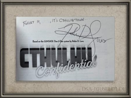 Signatur von Robin D. Laws im Inneren des Buches