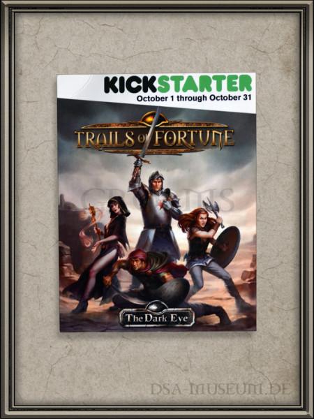 The Dark Eye – Trails of Fortune / Schicksalspfade Kickstarter Flyer