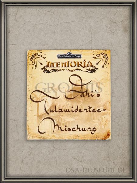 "Memoria Presskit Beilage ""Fahi's Tulamidentee-Mischung"""