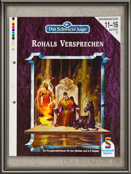 DSA_Schwarze_Auge_Museum_Druckfahne_Korrekturabzug_Rohals_Versprechen_Schmidt_Vorab-Cover
