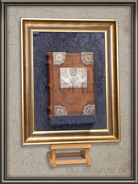 DSA_Schwarze_Auge_Museum_Limitiert_Liber_Cantiones_Crafted_Collectibles_Deluxe_Display