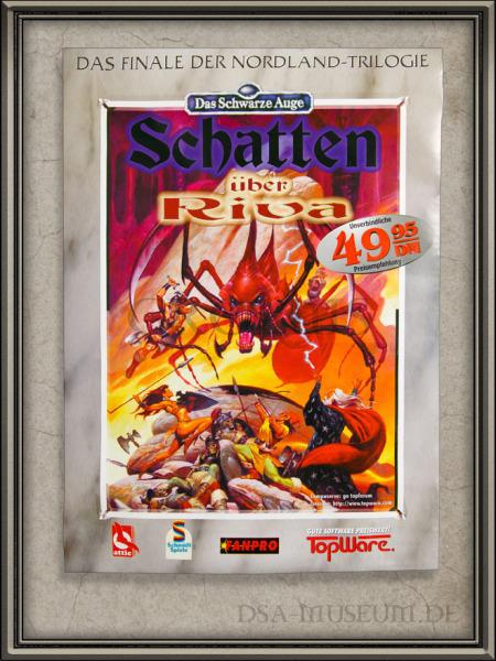 DSA_Schwarze_Auge_Museum_Promo_Poster_Händler_Schatten_Riva