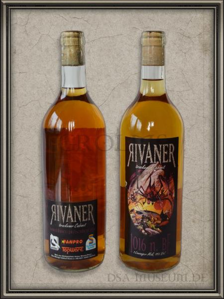 Weinflasche Rivaner von Vorne und von Hinten