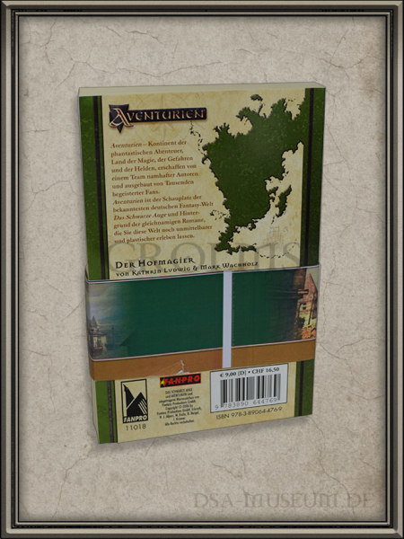 "Der Roman ""Der Hofmagier"" als spezielle Drakensang-Promotion - Rückseite"