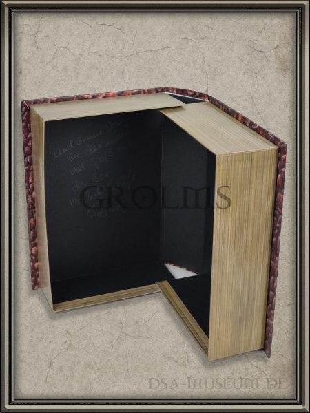 Drakensang Limited Collector's Edition Mitarbeiterausgabe: Innenseite der Box mit Widmung