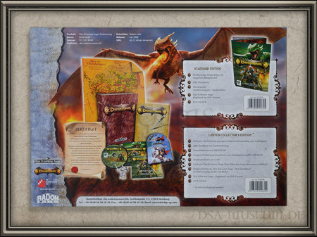 Drakensang Presskit Händler-Broschüre Rückseite