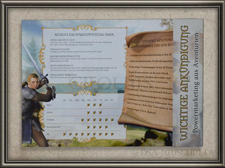 Drakensang Presskit Händler-Broschüre Einleger Vorderseite