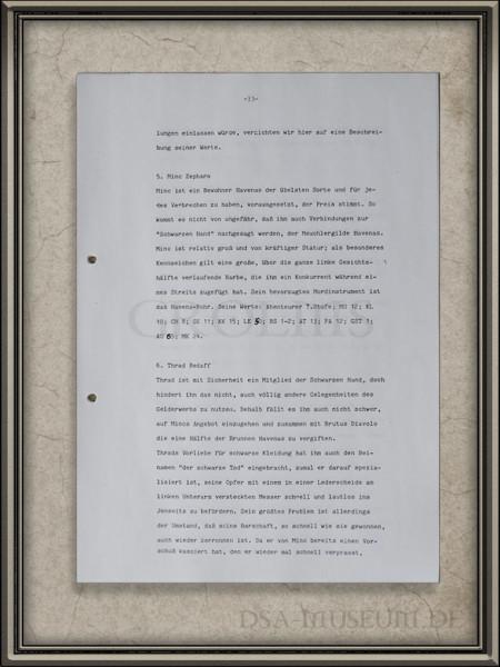 """Beispielseite aus dem Manuskript """"Gefahr aus dem Dunkel oder Der Flucht des Druiden"""" (später veröffentlicht als """"Das Experiment"""")"""