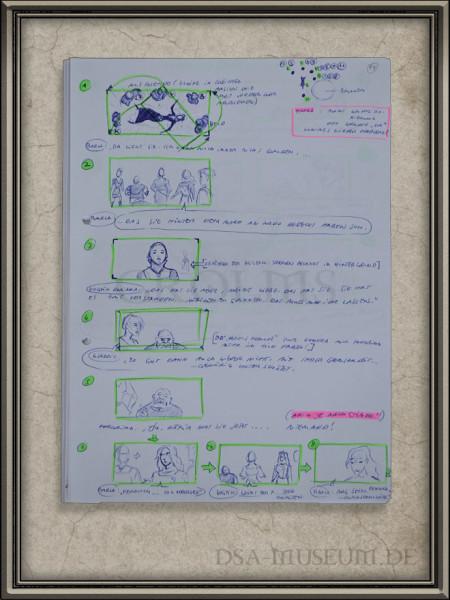 Drakensang Storyboards Beispielseite
