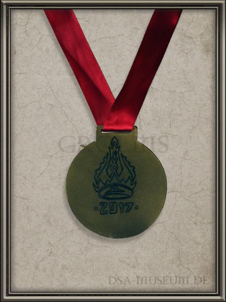 Goldmedaille zum Kaiser Raul Konvent 2017 Aventuria Turnier Rückseite