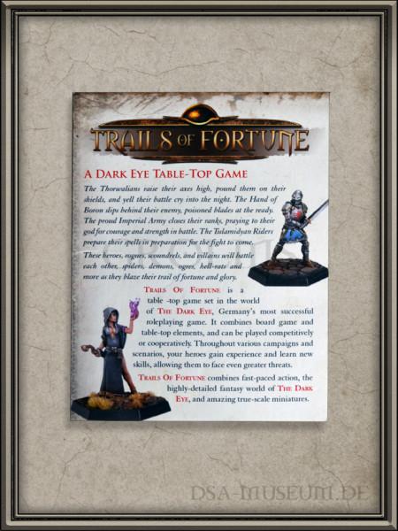 The Dark Eye – Trails of Fortune / Schicksalspfade Kickstarter Flyer Rückseite