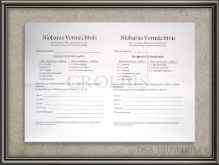 Niobaras Vermächtnis MPA Anmeldebogen